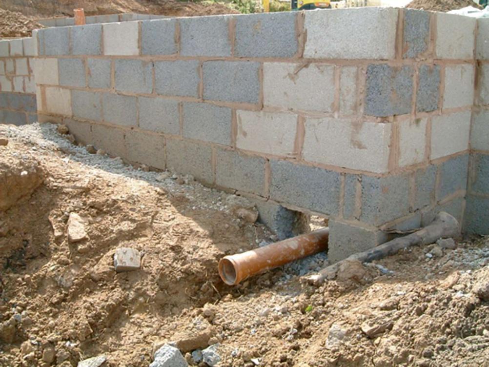 Этапы строительства системы дренажа