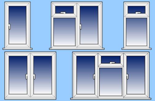 Типы пластиковых окон по способу открывания