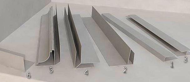 Виды профиля для монтажа пластиковых ПВХ-панелей