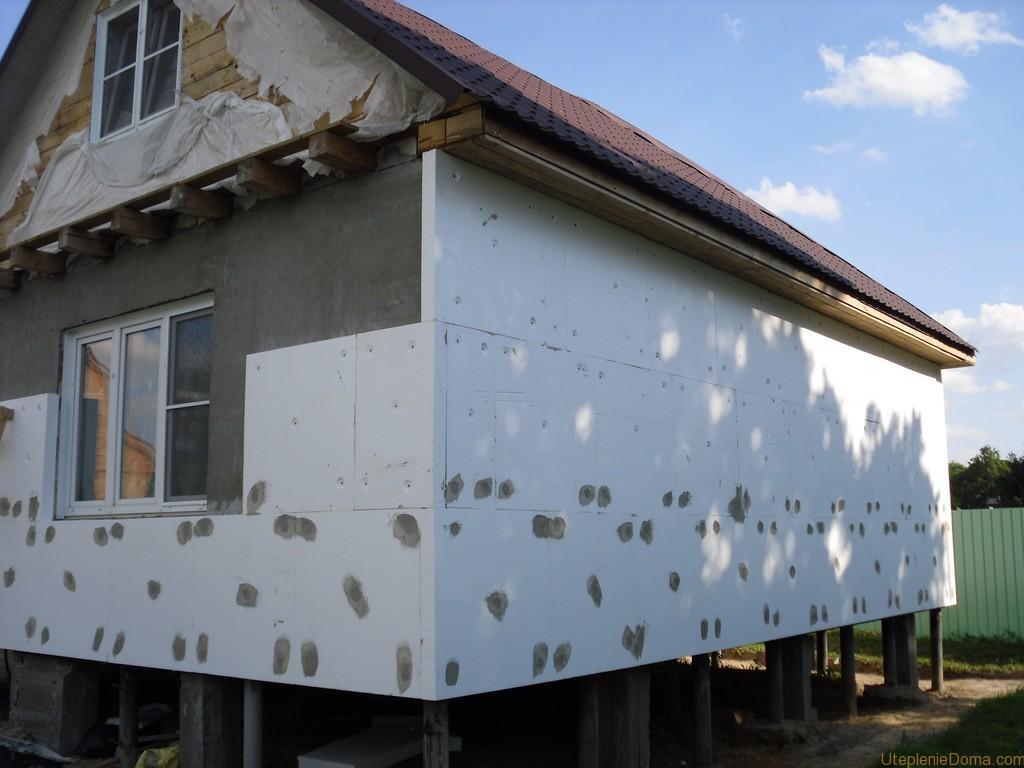 Порядок утепления деревянных стен снаружи пенополистиролом