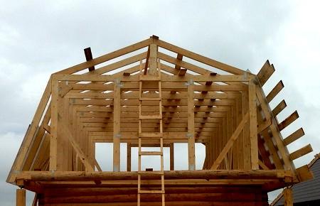 Самостоятельное возведение ломаной крыши