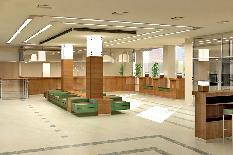 Дизайн банковских офисов