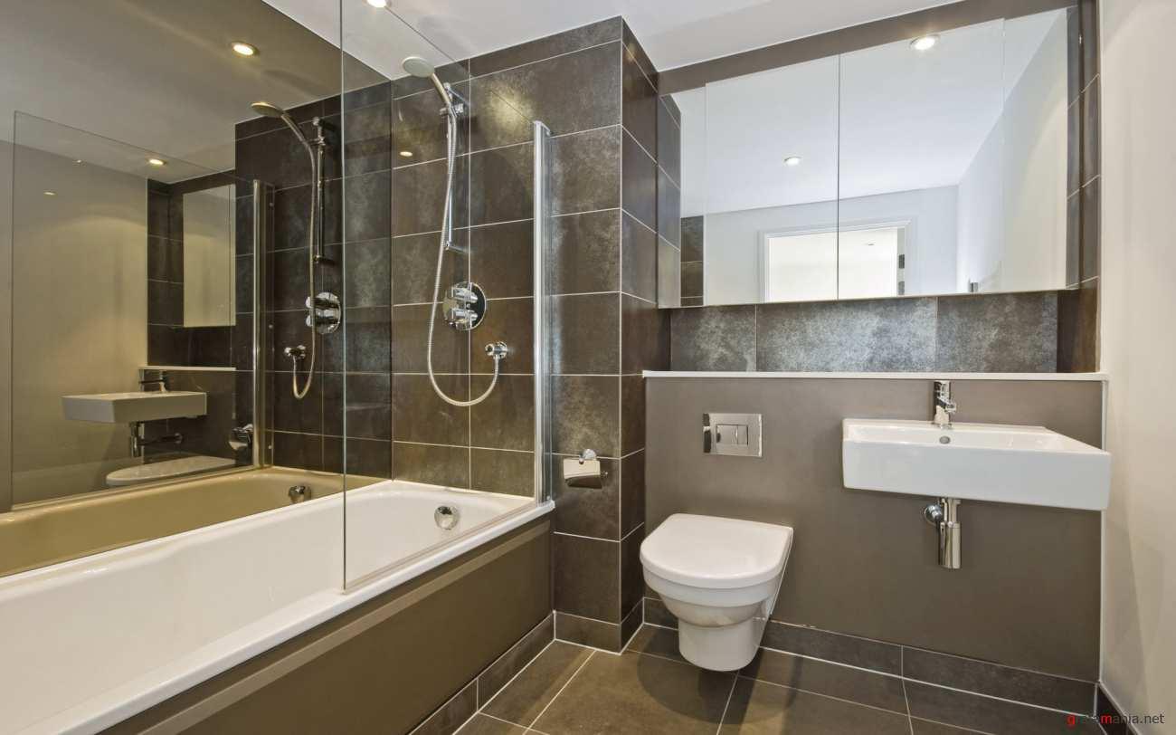 Современность дизайна ванных
