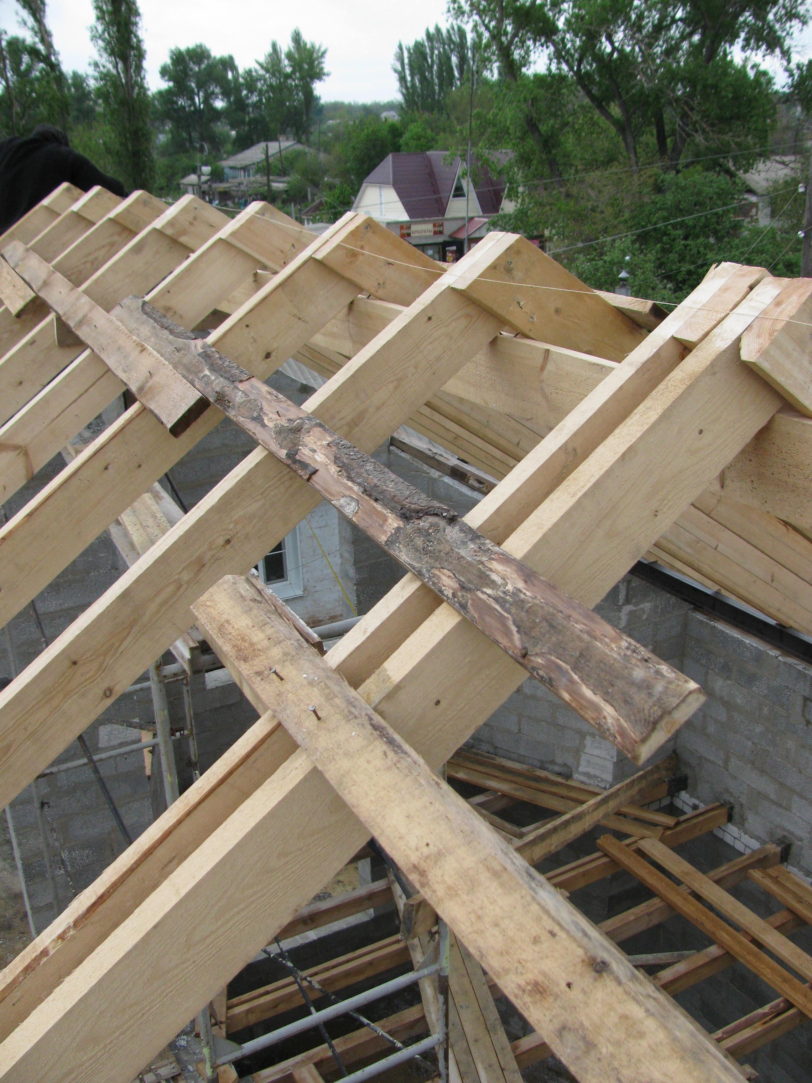 Усиление стропильной конструкции