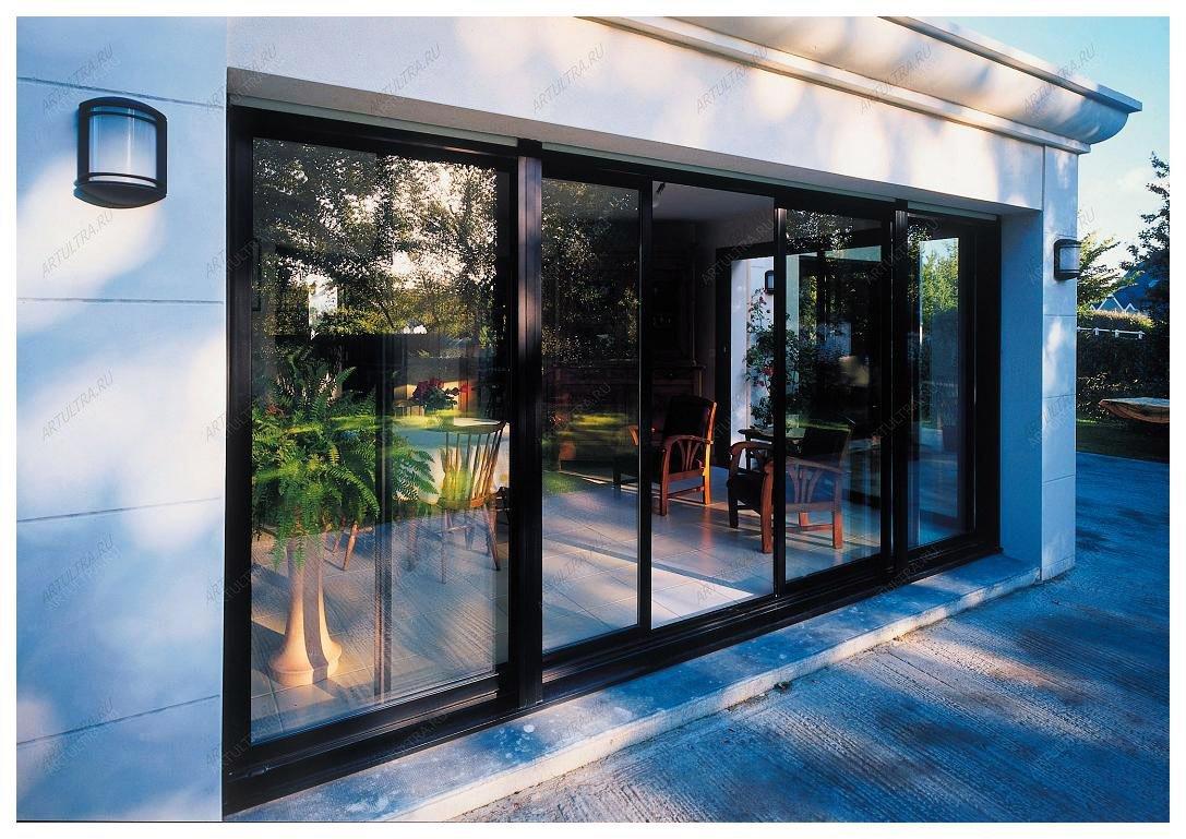 Двери из алюминия для дома и офиса