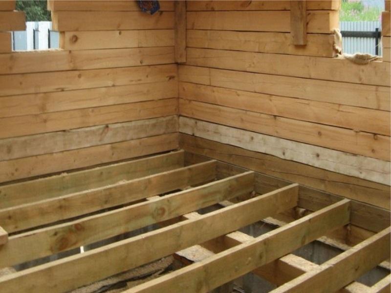 Как установить лаги для пола на деревянные балки