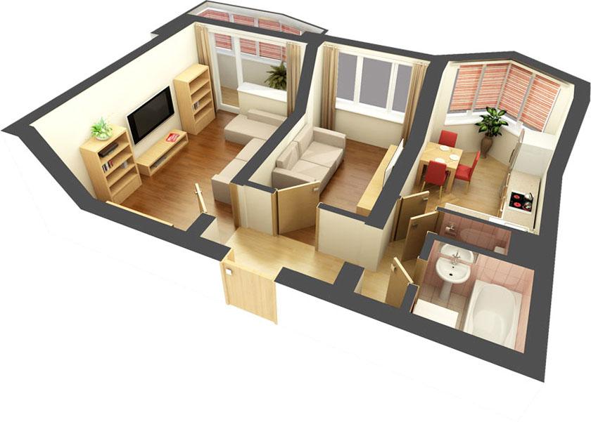 Как провести перепланировку однокомнатной квартиры
