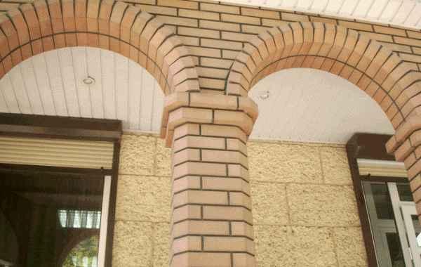 Кладка кирпича для арки