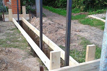 Монолитный железобетонный фундамент под ворота и калитку своими руками