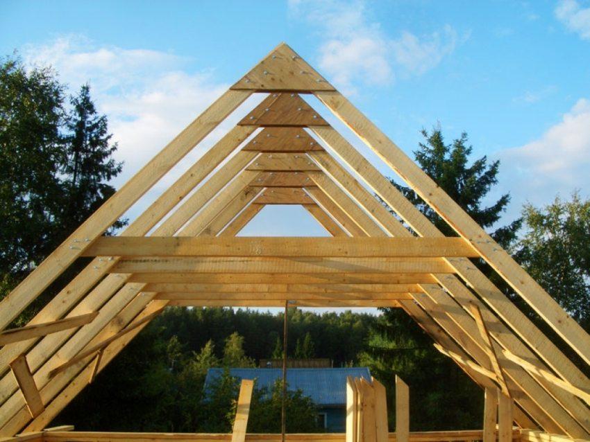 Cтропильная система двухскатной крыши