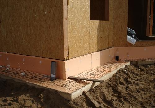 Утепленная бетонная отмостка вокруг дома