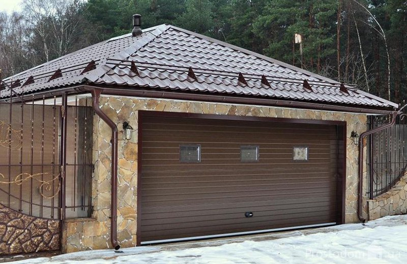 Крыша гаража