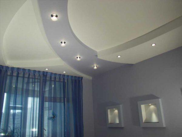 Светильники в потолки из гипсокартона