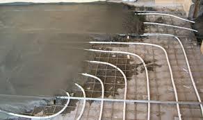 Бетонная система тёплого водяного пола