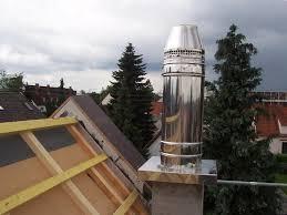 Схема дымовой трубы для печи или камина