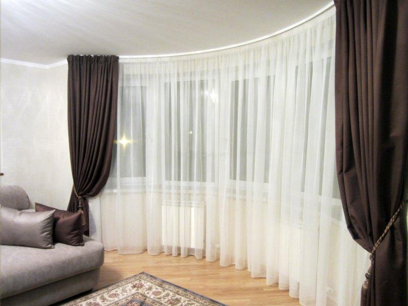 Готовая тюль для зала и гостиной комнаты