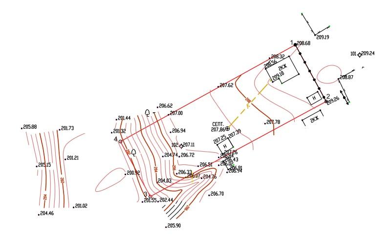 Топографическая съемка участка