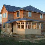Крыша пристройки к дому