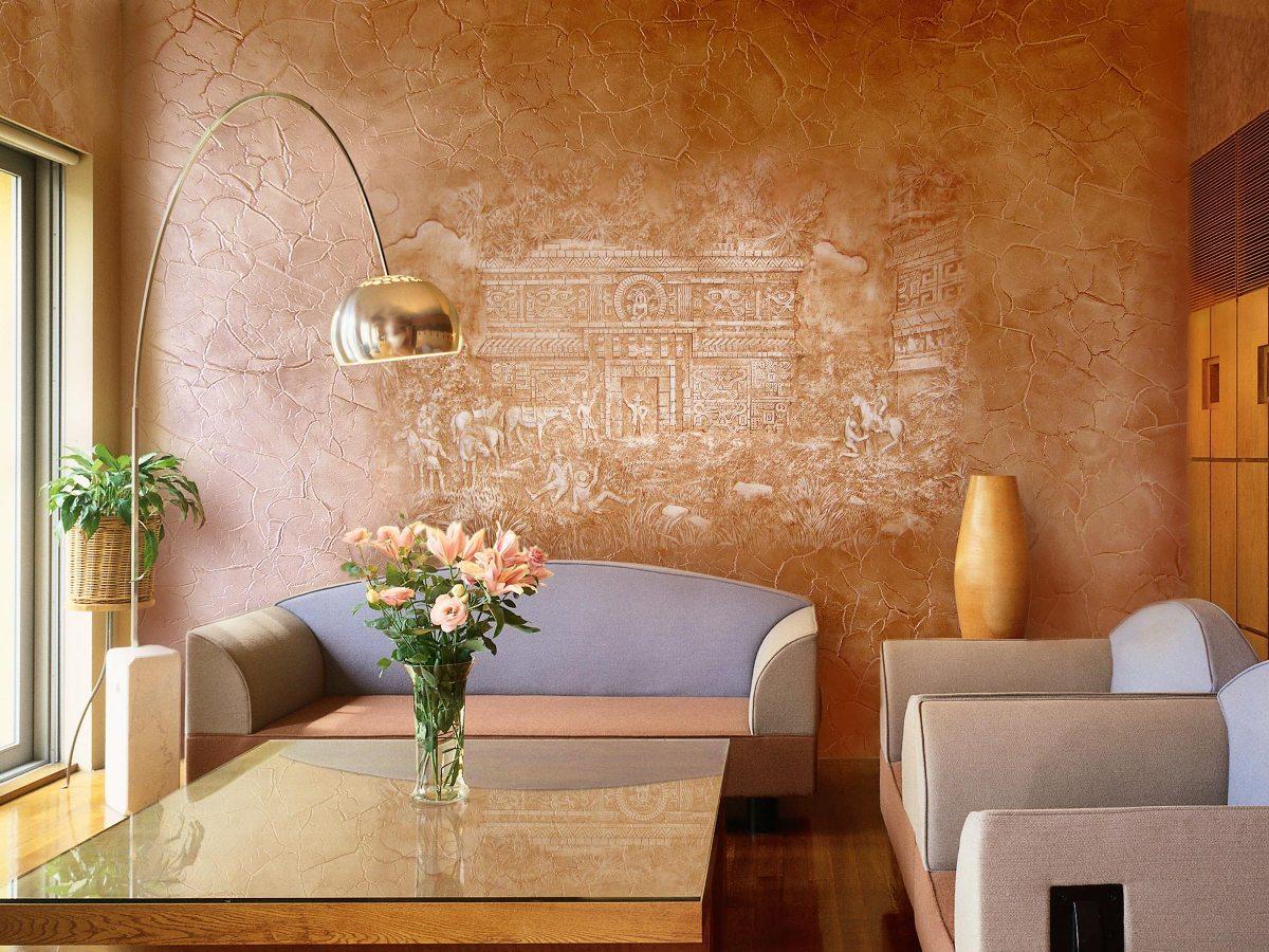 Краски для декоративной отделки стен