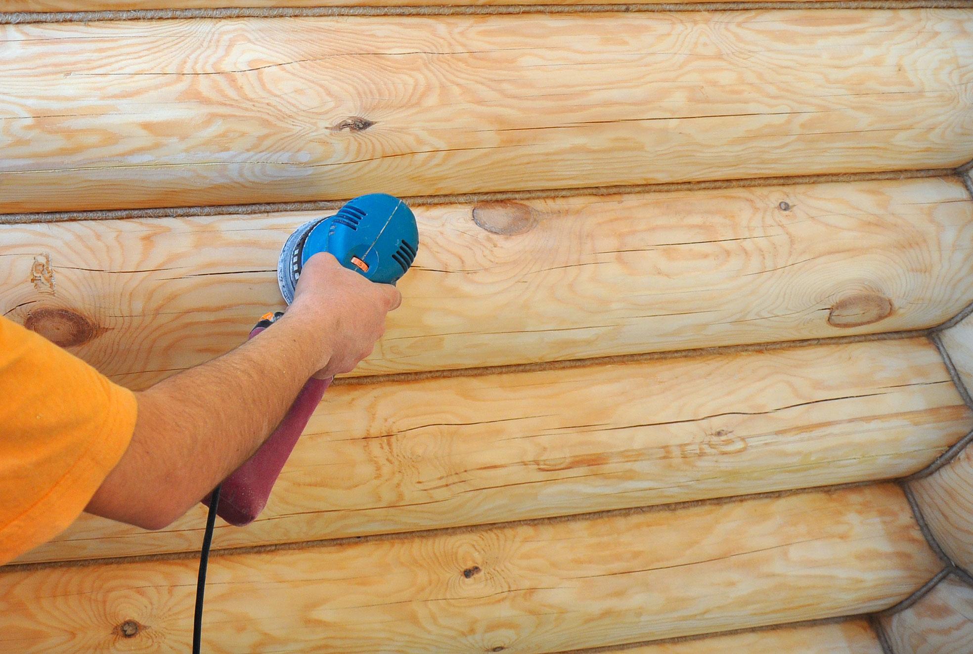 Рекомендации по шлифовке стен сруба