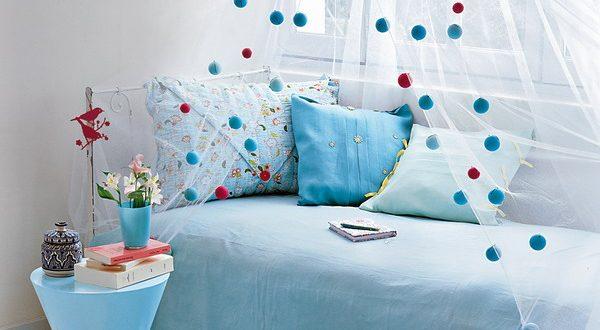Меняем интерьер с использованием текстильного декора: домашний текстиль Marie Claire.