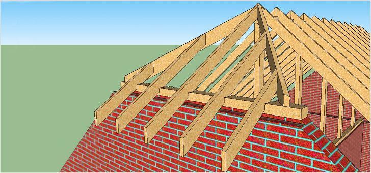 Строительство вальмовой крыши