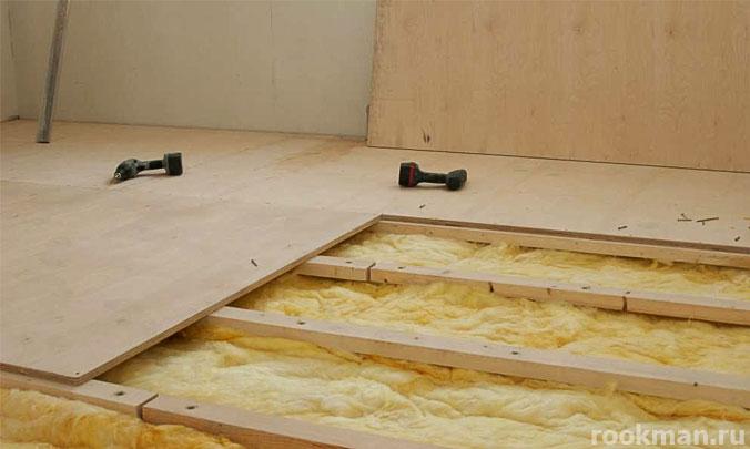 Фанера под линолеум на деревянный пол своими руками