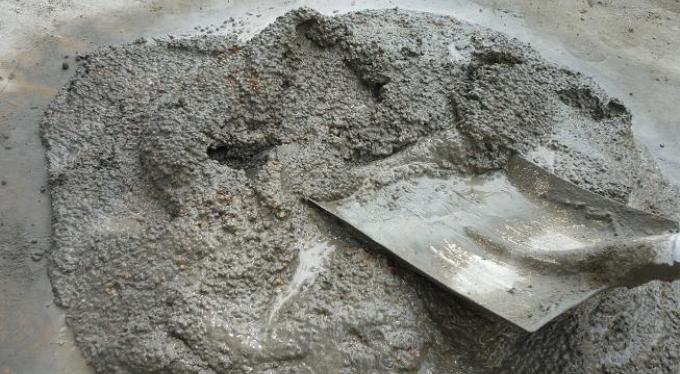 Изготовление бетона.