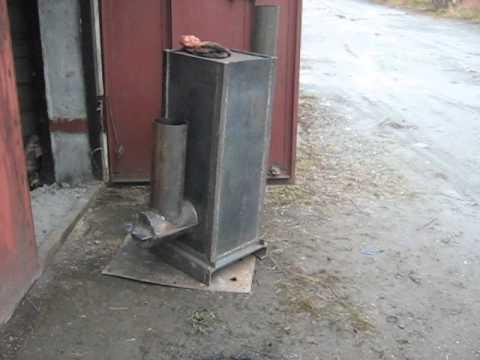 Печь ракета для вашего гаража