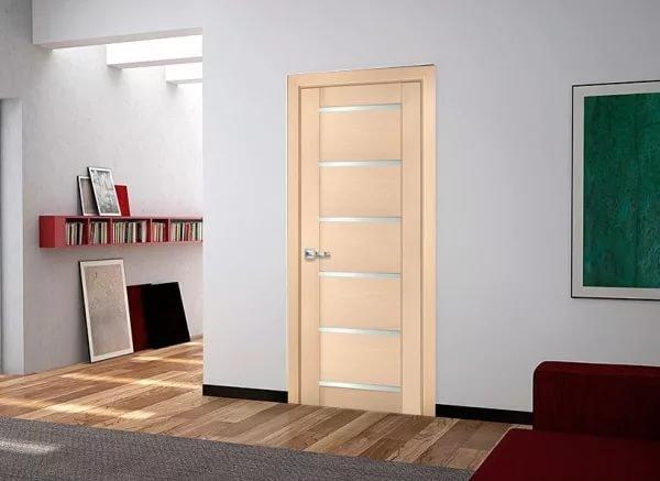 Двери из белёного дуба