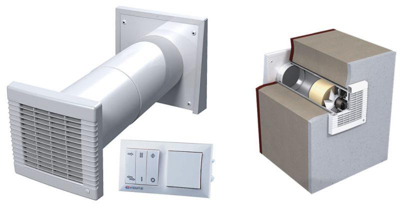 Устройство вентиляции в помещениях без окон