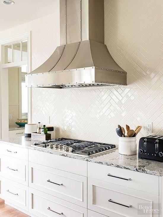 Новый взгляд на глянцевую плитку на кухне