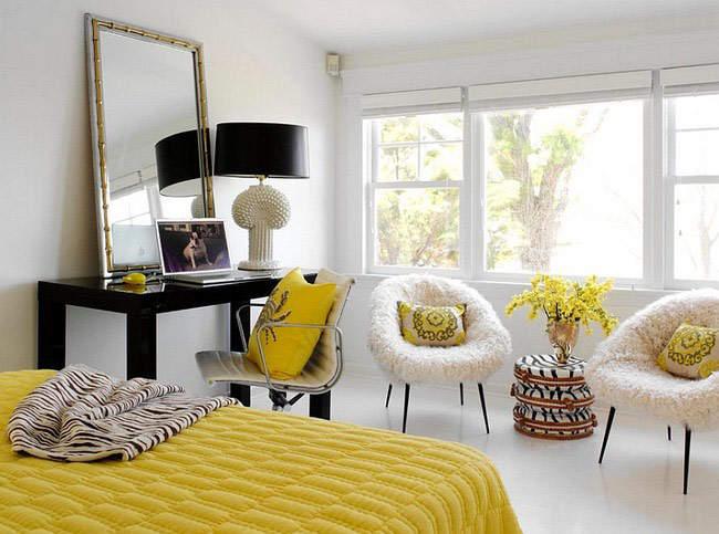 Черно-белый вариант для спальни: выбираем стилевое решение