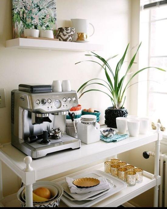 Кофе-машина в интерьере кухни