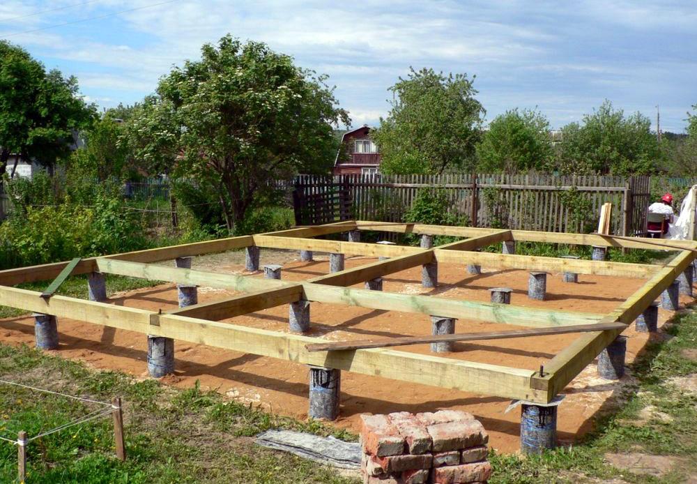 На каком фундаменте возводить дом из бруса?