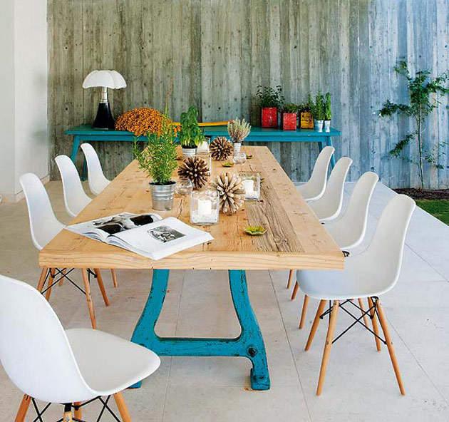 Современный и деревенский стиль в вашей столовой