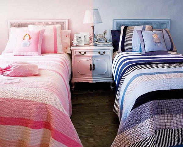 Как оформить интерьер комнаты для двух разнополых детей