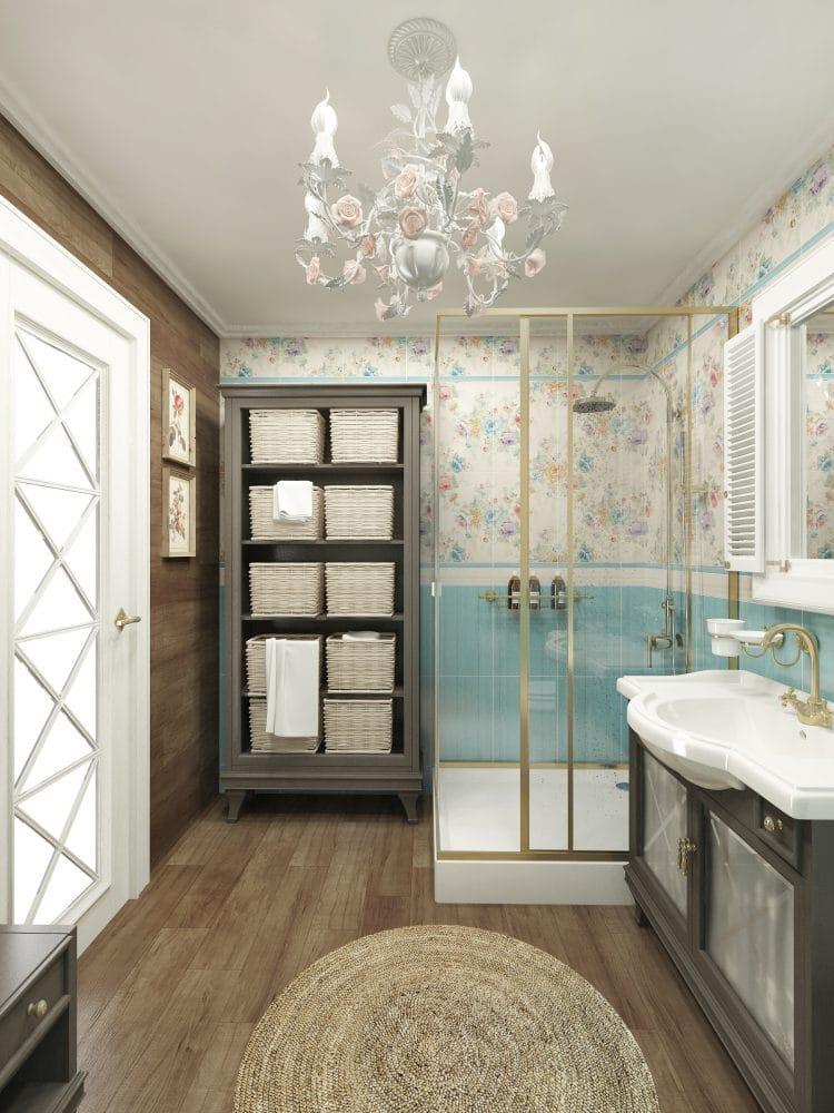 Ванная в стиле прованс: оазис прекрасного настроения