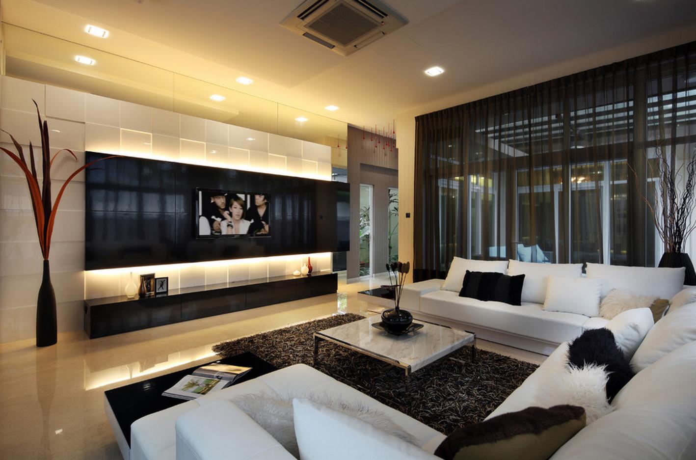 Как правильно расположить телевизор на стене