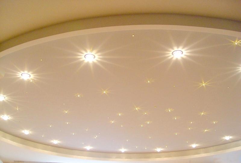 Освещение натяжного потолка