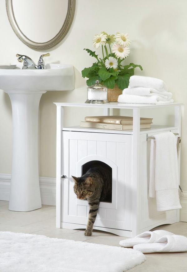 Куда спрятать кошачий туалет: дизайнерский подход
