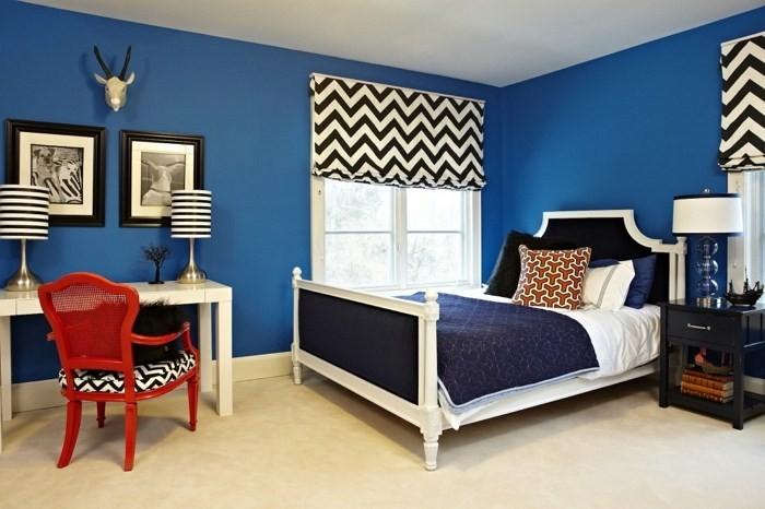 Популярные сочетания синего цвета в интерьере