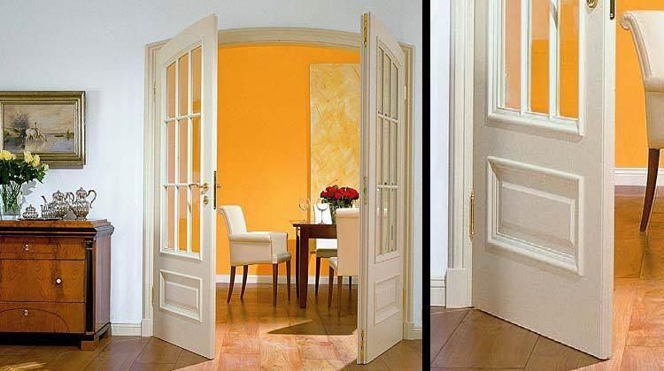 Преимущества двустворчатых межкомнатных дверей