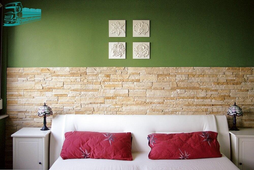 Варианты использования декоративного камня White Hills