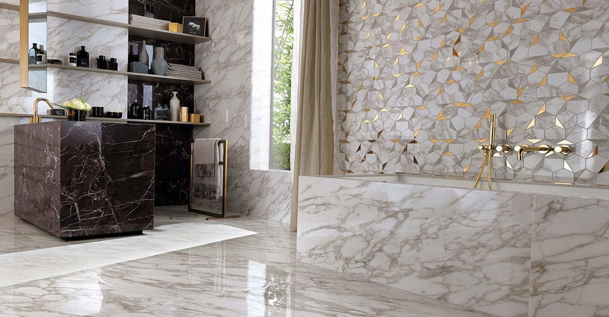 Плитка керамическая: использование в разного типа помещениях