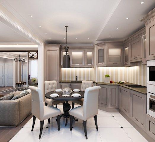 Неоклассика — роскошный дизайн интерьера для жилья