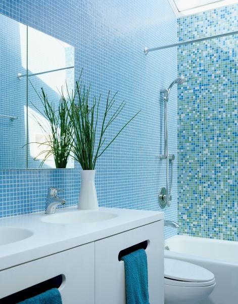 Ванная комната голубого цвета: идеи