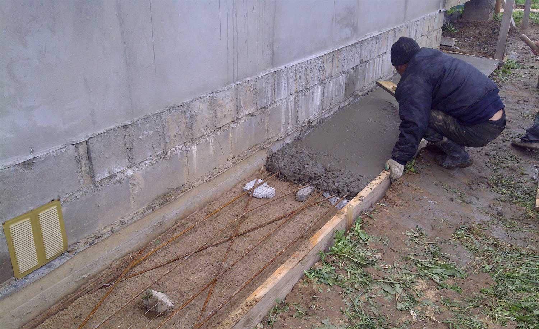 Обработка бетонной поверхности перед покраской