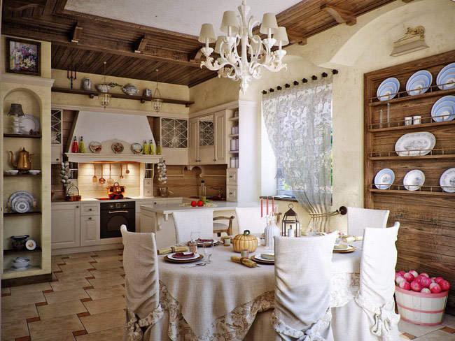 Интерьер в средиземноморском стиле: модный вариант для кухни
