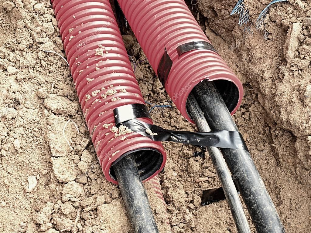Трубы ПНД для прокладки кабеля в земле